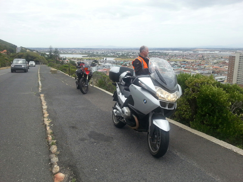 Motorbikes on Boyes Drive in Muizenburg