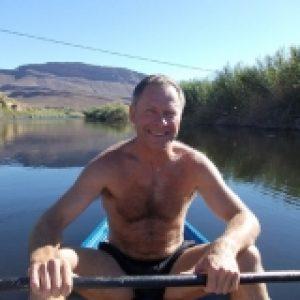 Cederberg canoeing on river