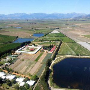 Farmland view from plane