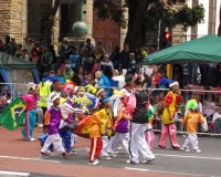Colourful carnival parade